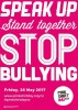 Bullying stops here! Pink Shirt Day 2019